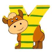 Orange Tree Toys : Wooden Letter Y for Yak