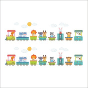Raylinedo® Trains And Animals Removable Wall Stickers Window Sticker Art Decals Mural DIY Wallpaper for Room Decal