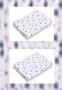 Haton Double-Woven Muslin Cloths with Stars and Hearts Pack of 6
