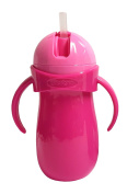 Griptight - Large Handled Flip Top Straw Sipper Cup Bottle - Non Spill