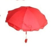 Parasol, umbrella for pram, sun protector, baby umbrella in Red Colour