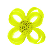 Love Hair Extensions Clip In Flower Hair Accessory, Colour Neon Yellow