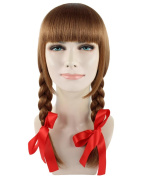 Exclusive! Annabelle Movie Brown Cosplay Party Costume Wig HW-1094 Adult