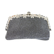 Yingzu Women's Luxury Dumpling Shaped Diamond Clutch Bag Banquet Bag Clutch Rhinestone Party Evening Handbag