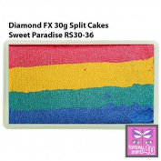 Diamond FX 30g Split Cake / One Stroke Face Paint ~ Sweet Paradise (RS30-36) by Diamond FX Split Cakes