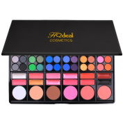 HQdeal All In One Make up Palette Kit 78 Colours Eyeshadow/ Foundation/ Contour/ Concealer/ Eyebrow Palette Eye Colour Palette Set 3#