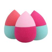 Demiawaking 3Pcs Water Drop Makeup Foundation Sponges Blends Cosmetic Powder Sponges Puff Flawless Beauty Tools