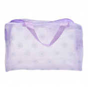 Covermason Portable Translucence Makeup Pouch Flower Travel Cosmetic/Storage/Toiletry/Organiser Bag