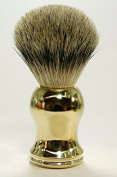 Hans Baier Exclusive Silver Tip Badger Hair Shaving Brush Gold