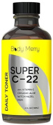Body Merry 22% Vitamin C Toner for Face - Alcohol Free with Witch Hazel, MSM, Aloe Vera, Essential Oils - Best Formula to Tighten and Tone Facial Skin & Reduce Pore Size - 120ml