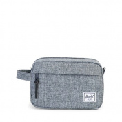 Herschel Toiletry Bag grey OFFSET Raven Crosshatch Stripe