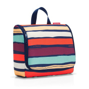 Reisenthel Travelling Toilet bag 28 cm - artist stripes, One Size