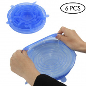 Silicone Stretch Lids 6-Pack Of Various Sizes