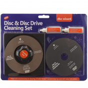 2in1 Laser Lens Cleaner Disc Cleaning Pad Fluid Kit Ps3 Xbox One/360 Blu Ray DVD CD Player Removes Dust Fingerprints
