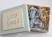 East of India Baby Boy Little Shoes & Keepsake Box Gift