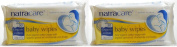 (2 Pack) - Natracare - Org Cotton Baby Wipes | 50wipes | 2 PACK BUNDLE