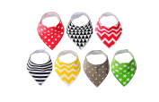 iNeibo Baby Bandana Drool Bibs,Unisex 7-Pack Gift Set for Drooling and Teething,Super Safe and Absorbent 100% Cotton,Modern Shower Baby Gift Set, Fits Newborn Infant Babies and Toddler7-Pack