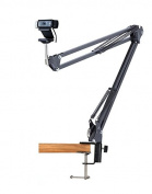 Webcam Stand Desktop Suspension Boom Scissor Arm Mount Holder for Logitech Webcam C922 C930e C930 C920 C615