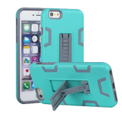 iPhone 6 Plus Case, iPhone 6s Plus Case, VPR 2 In 1 Hybrid Dual Layer Plastic+Soft Silicone Armour Shockproof Full Body Protective Kickstand Case For iPhone 6 Plus / 6s Plus 5.5 inch