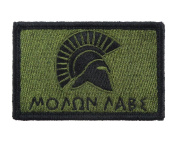 Molon Labe Spartan Patch Fully Embroidered Tactical Hook and loop Morale Tags