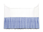 Tadpoles Crib Skirt Classic Gingham, Navy