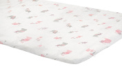 Zack & Tara Playard Sheet - Lovely Elephants in Pink
