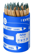 Lyra Ferby Natural in Cardboard Case Unpainted 36 Graphitstifte