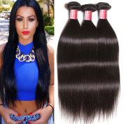 Longqi Hair Malaysian Straight Virgin Hair 3 Bundles Unprocessed Human Hair Extensions Weave Natural Colour