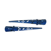Set of 2 Concord Pinch Clip with Flower Cutout - Blue