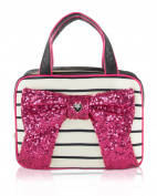 Betsey Johnson Weekender Bow Cosmetic Case - Fushia
