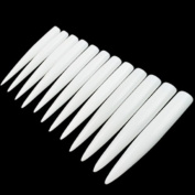 120pcs White/clear/natural Long Sharp Stiletto Fake Nail Tips False Nail Art Tip Manicure