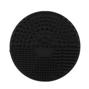 1pcs Black Silicone Mini Travelling Makeup Washing Brush Cleaning Mini Mat Scrubber Pad Makeup Brush Tool