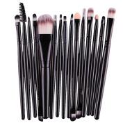 Kwok Brush,15 pcs/Sets Eye Shadow Foundation Eyebrow Lip Makeup Brushes