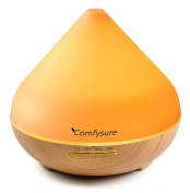ComfySure 300ml Ultrasonic Aroma Diffuser for Essential Oils Aromatherapy / Cool Mist Air Humidifier- Filter Free