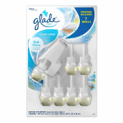 Glade Clean Linen PlugIns Scented Oil Warmer and Refills, 7 ct.