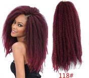 Marley Afro Braid Hair Extensions, Kinky Curly Bulk Twist Crochet Braids 32 Strands/ Pack, 100g