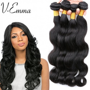 "V-emma 4pcs 14"" 16""18"" 20""Brazlian Virgin Remy Human Hair Body Wave Extension"