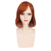 Yesui Lolita Women's Girl's Cosplay Wig Short Wave Curly Synthetic BOB Hair Wigs