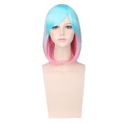 Yesui Multi-colour Lolita Women's Girl's Cosplay Wig Short Synthetic Straight BOB Hair Wigs