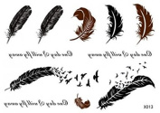 GGSELL GGSELL new release look like real temporary tattoos stickers a lof of feathers and english words