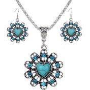 2017 Hot Jewellery Set ! AMA(TM) Women Vintage BOHO Style Peacock Butterfly Flower Owl Turquoise Pendant Necklace Earrings Eardrop Jewellery Set Gifts