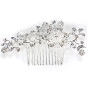 SBParts® Beautiful Jewellery Flowers Rhinestones Pearls Women Hair Comb Clip Bridal Wedding Beauty Tools Accessories