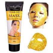 LuckyFine Gold Collagen Mask Anti Ageing Whitening Wrinkle Lifting Peel Off Masks Face Care