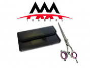 15cm Professional Thumb Swivel Barber Razor Edge Titanium Coated Hair Cutting Scissors+free Lather Case