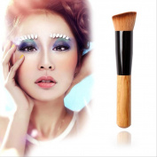 Togirl Angled Flat Top Buffer Brush Bamboo Face Base Liquid Foundation Cosmetic Makeup