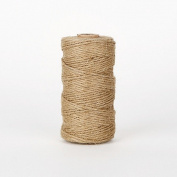 1Roll (99 Mtrs) Burlap Rope Hemp Cord Thread Jute String DIY 1mm - Natural