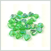 Beads Czech Glass Leaf Shape 25 pieces per pack Size 10 mm