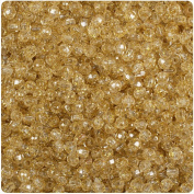 BEADTIN Gold Sparkle 4mm Faceted Round Craft Beads