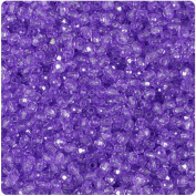 BEADTIN Amethyst Purple Transparent 4mm Faceted Round Craft Beads