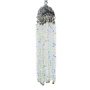 LovelyBead Handmade Tassel made with Angelic Crystal and Tibetan Style Cap